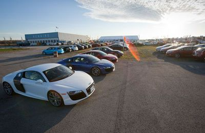 2010 Audi R8's at the Niagara Drive Centre.