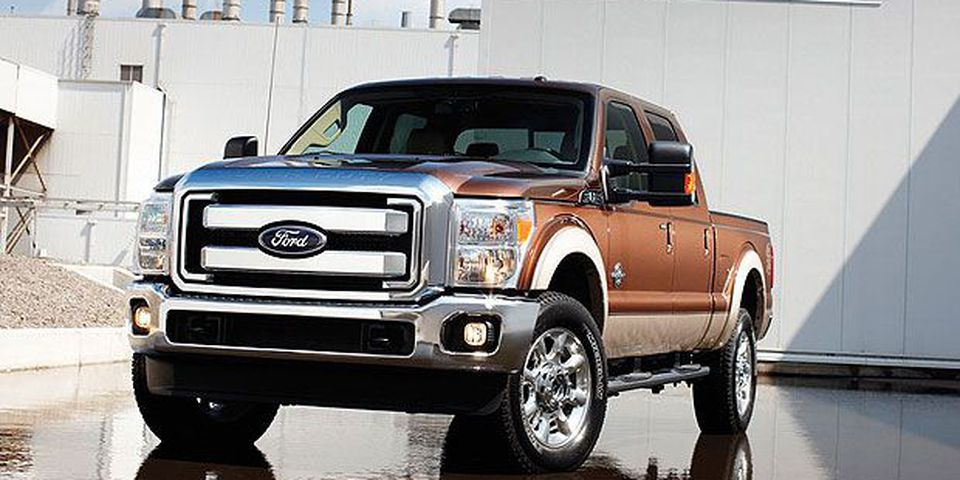 The 2011 Ford Super Duty pickup.