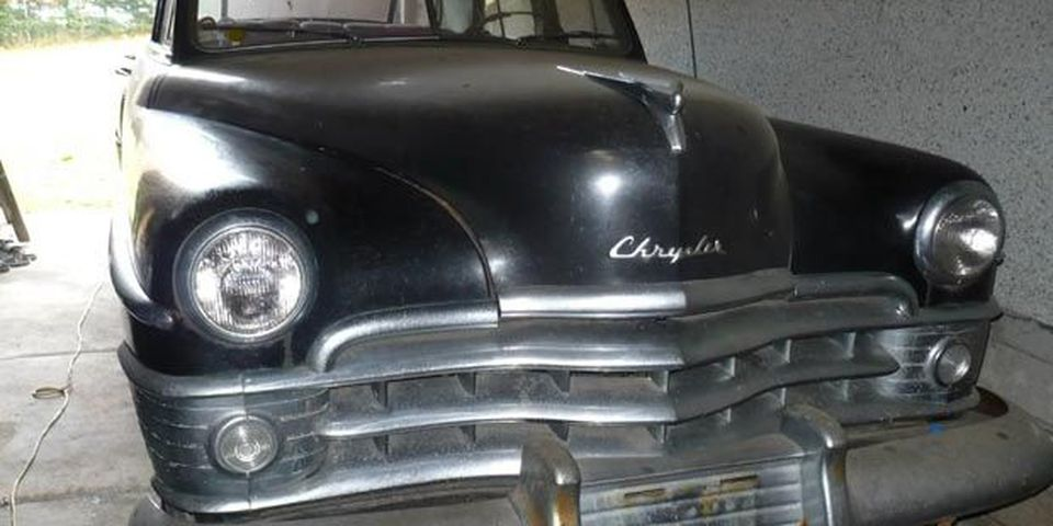 This 1950 Chrysler New Yorker has been stored in a garage behind a house in Nanaimo for more than 30 years.