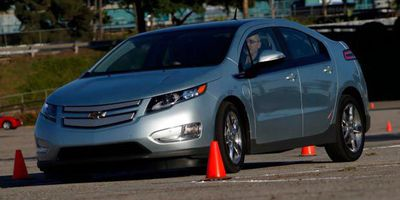 Graeme Fletcher driving the 2011 Chevrolet Volt.