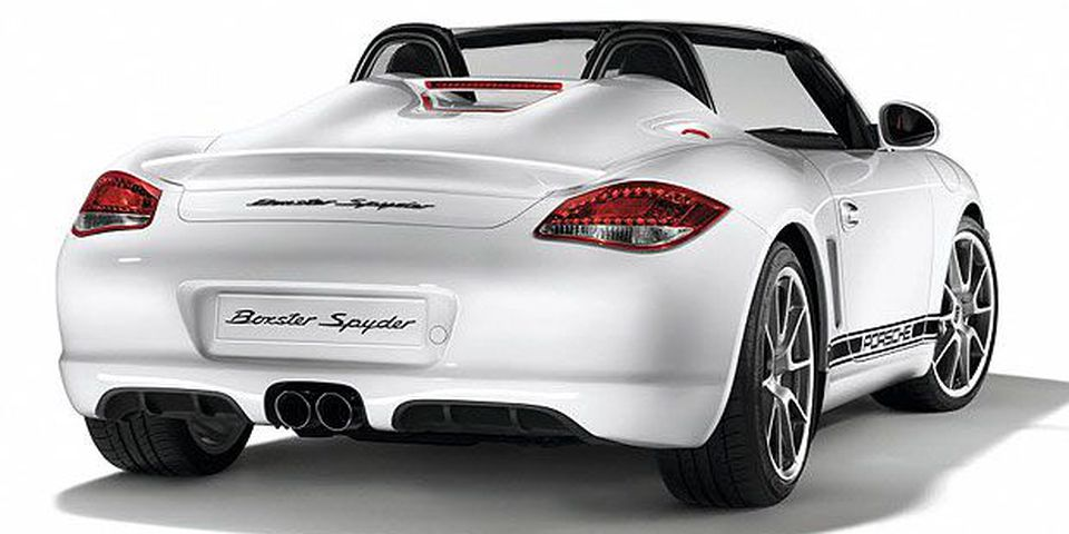 The 2011 Porsche Boxster Spyder.