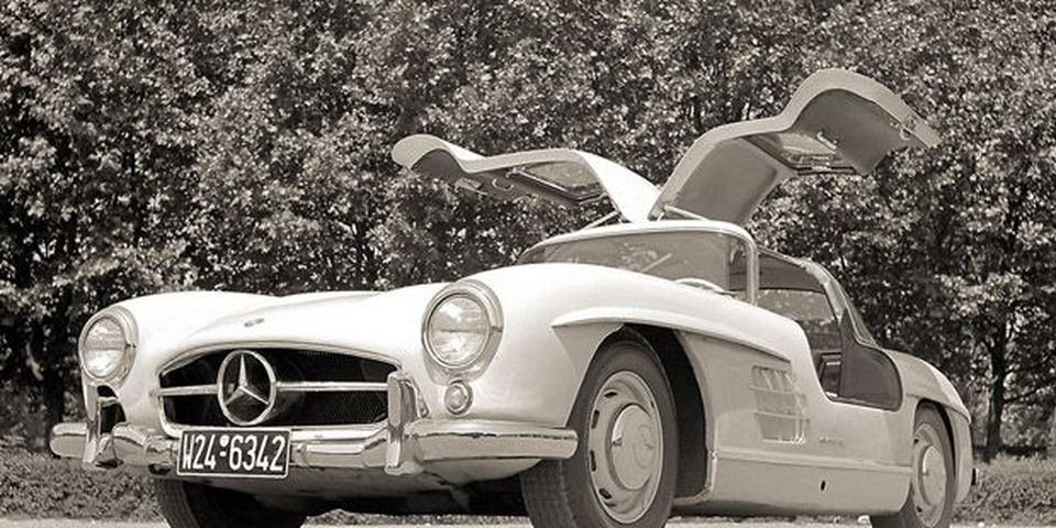 1955 Gullwing Mercedes 300SL.
