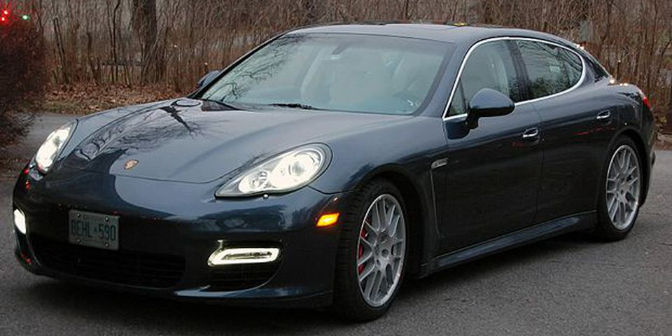 The 2010 Porsche Panamera Turbo.