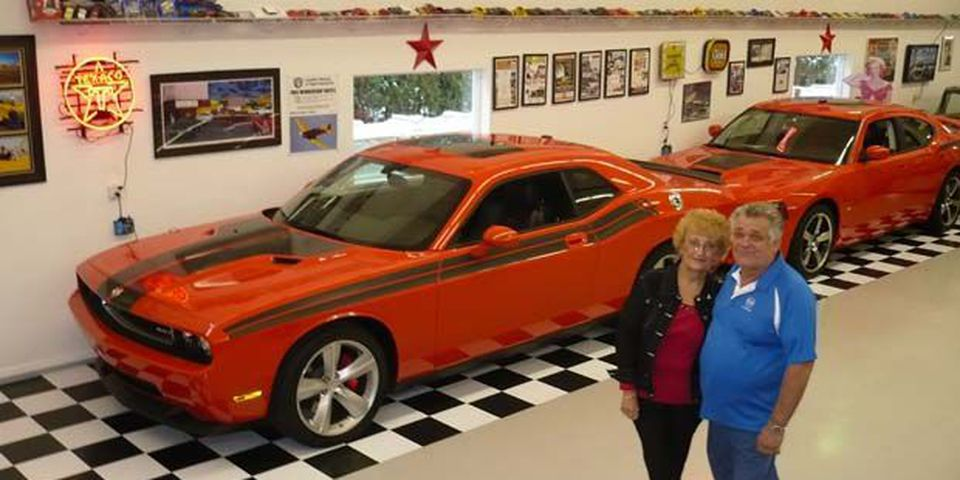 Gord and Audrey Stebanuk's collection of Chrysler cars.