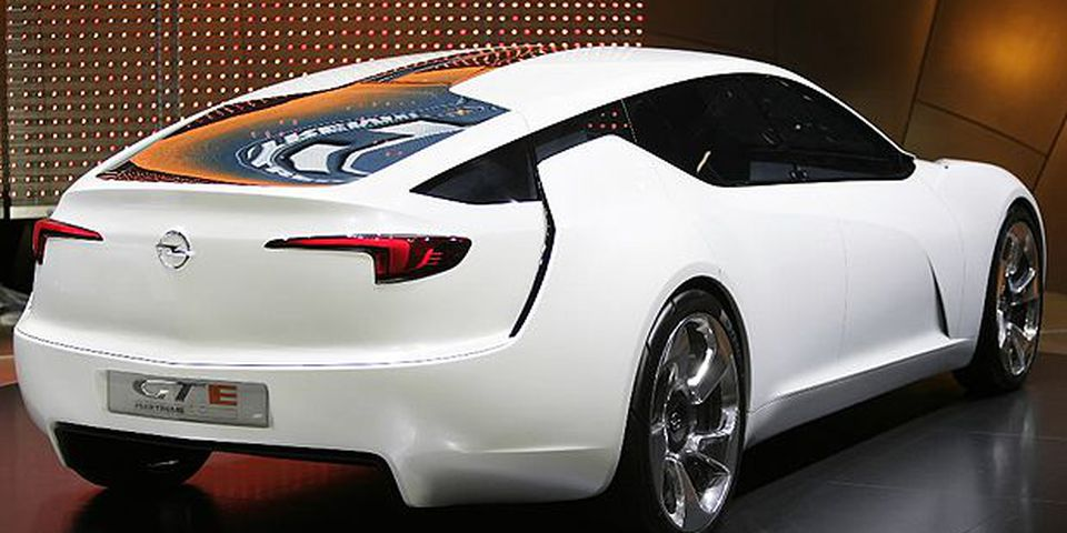 The new Opel GTE Flextreme car model is presented on March 2, 2010 during the second press day at the 80th Geneva International Motor Show at Palexpo in Geneva. Some 250 exhibitors representing 700 brands from 30 countries are on show in Geneva. Up to 700,000 are expected to attend.