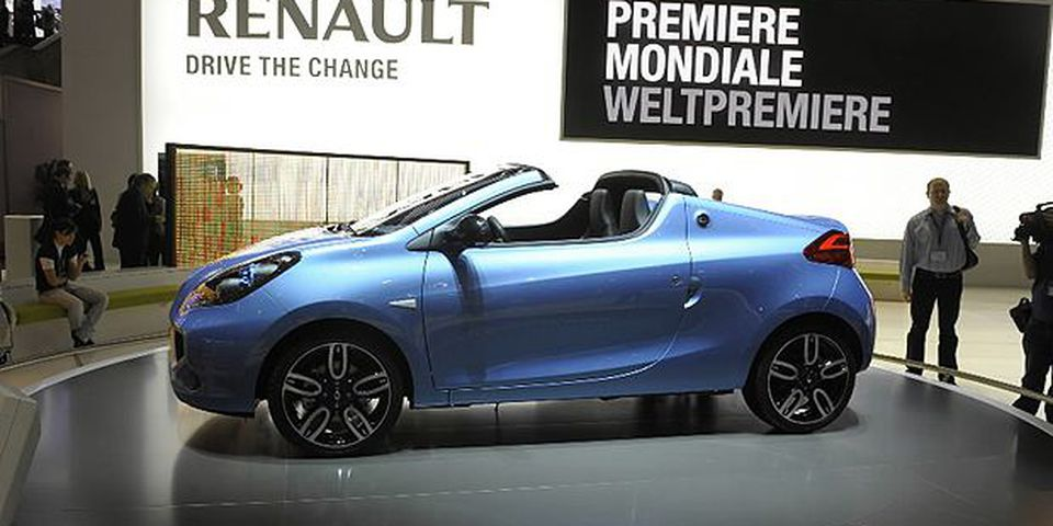 The new Wind car model by French carmaker Renault is displayed on March 3, 2010 during the third press day at the 80th Geneva International Motor Show at Palexpo in Geneva, Switzerland.