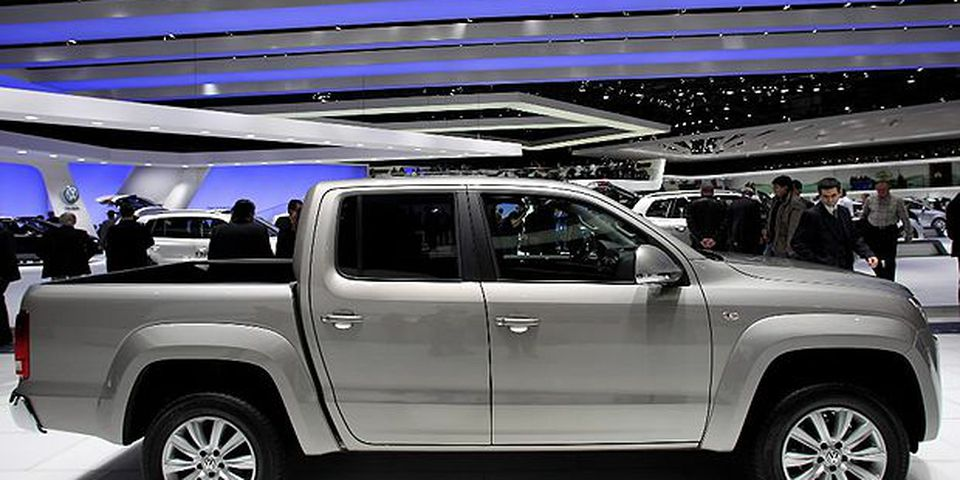 The Volkswagen Amarok pick-up is pictured during the second press day at the 80th Geneva International Motor Show on March 3, 2010 in Geneva, Switzerland. The show features World and European premieres of cars, and will be open to the public from March 4th to the 14th.
