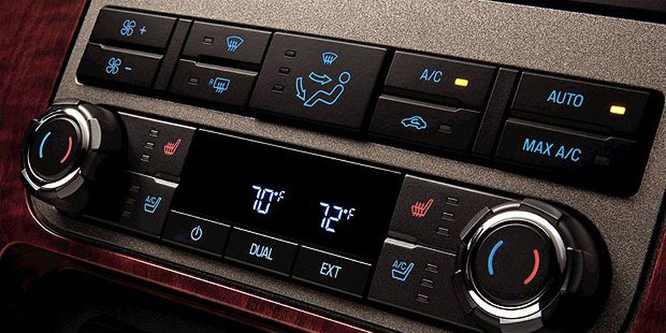 The 2011 Ford F-Series Super Duty: Dual-zone electronic automatic temperature control, standard on Lariat and King Ranch(R), combines with the available heated and cooled front seats to help increase customer comfort in the 2011 Ford F-Series Super Duty.
