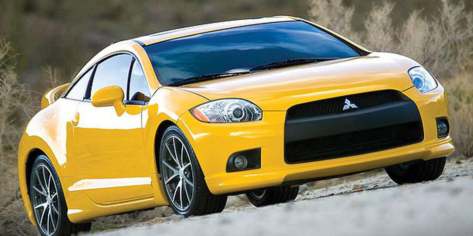 The 2010 Mitsubishi Eclipse GT coupe.