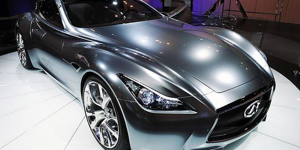 The Infiniti Essence concept car, introduced at the New York International Auto Show March 31, 2010 in New York.