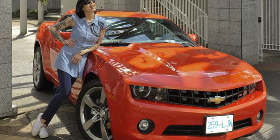 Bif Naked and the 2011 Camaro RS in Vancouver.