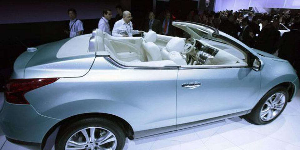 The new Nissan Murano Cross Cabriolet Concept is unveiled during the press day of the LA Auto Show in Los Angeles.