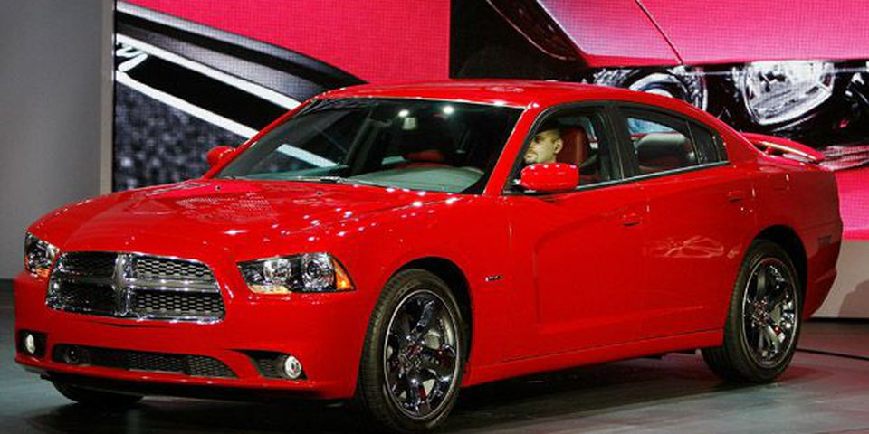 The refreshed Dodge Charger is revealed during the two-day media preview event for the 2010 Los Angeles Auto Show.