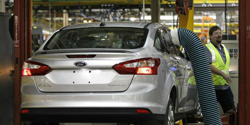 The firstl new 2012 Ford Focus began rolling off the assembly line Dec. 14 at Ford's Michigan Assembly Plant in Wayne, Michigan.