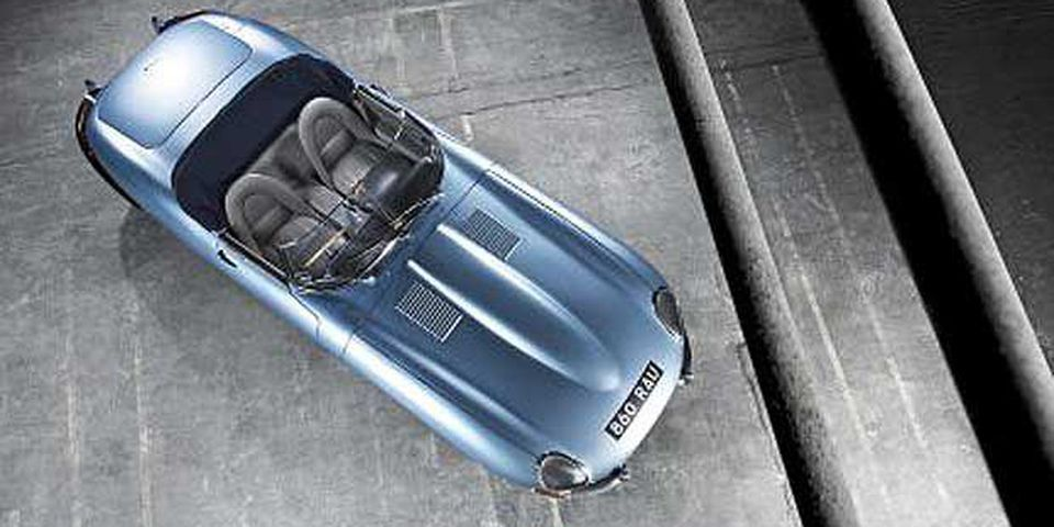 1961-64 Jaguar E-Type Opalescent Silver Blue Series 1 3.8 OTS (Open Two Seater).