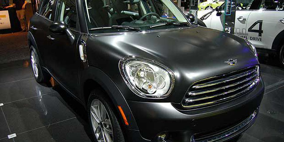 The MINI Countryman in matte black on display at the 2011 Canadian International Auto Show in Toronto. The show is open to the public from February 18 - 27th, 2011.