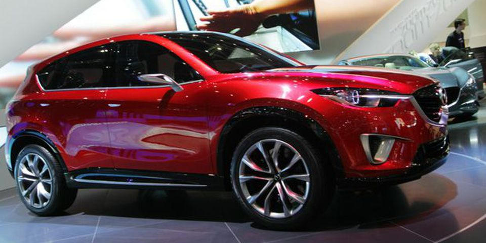 The Mazda SUV Prototype during the Geneva car show.