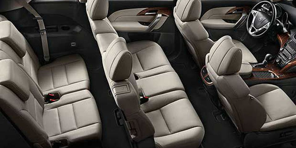 The MDX can accommodate up to seven passengers with the third row seating raised.