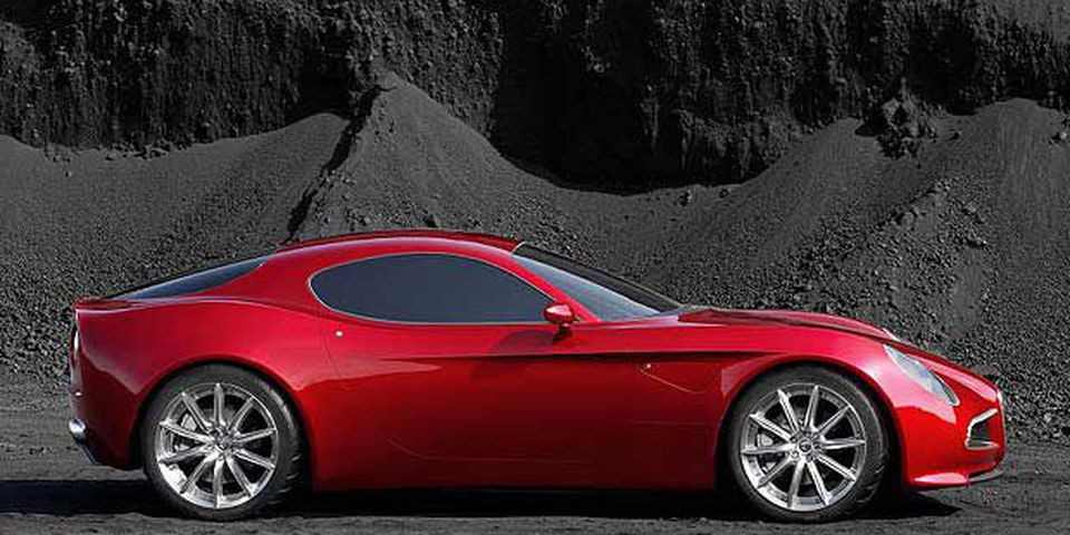 Number two on David Booth's list of top 10 most beautiful cars of the last 25 years is the Alfa Romeo Competizione 8C.