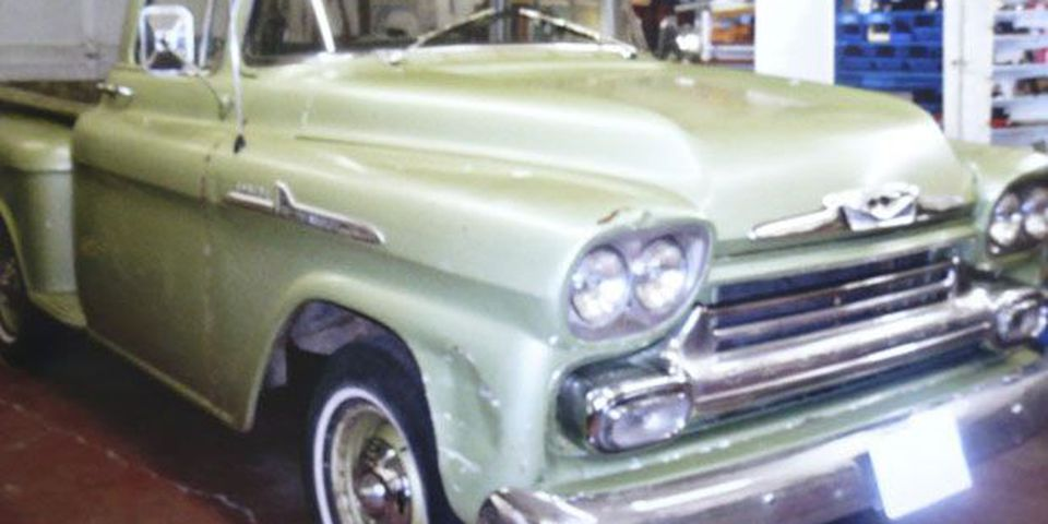 The Retro Electro 1958 Chevrolet pickup is an electric vehicle using a battery powered 100 horsepower electric motor for motivation.