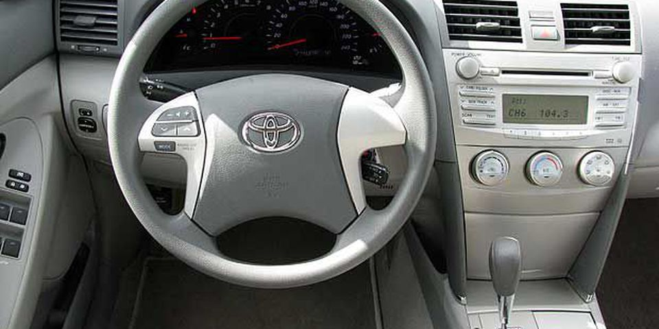 Interior of the 2011 Toyota Camry LE.