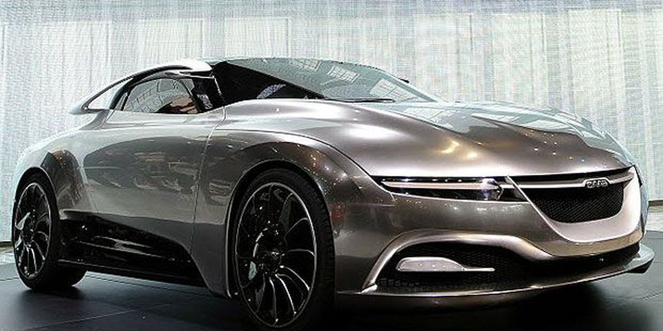 The Saab PhoeniX Concept Car being introduced during the 2011 New York International Auto Show at the Jacob Javits Convention Center in New York April 21, 2011.
