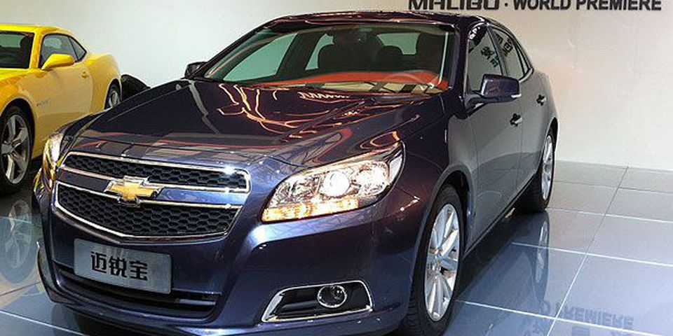 The 2013 Chevrolet Malibu on display at the 2011 Shanghai Auto Show.