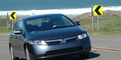 Our Honda Civic passes the test on the twists and turns of Highway 1 in the Point Reyes National Seashore.