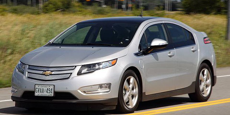 The 2011 Chevrolet Volt, Chevrolet's electric-extended range vehicle.
