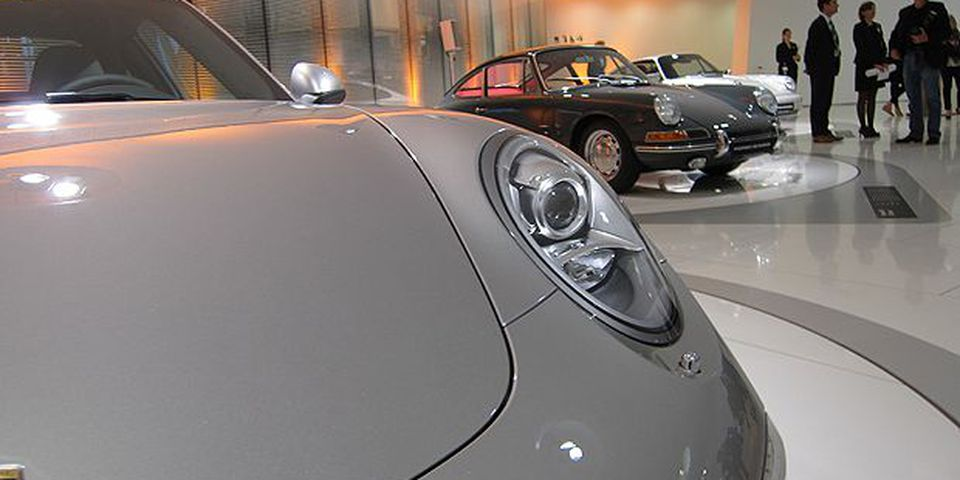 The 2012 Porsche 911 Carrera at its official reveal in Stuttgart, Germany.