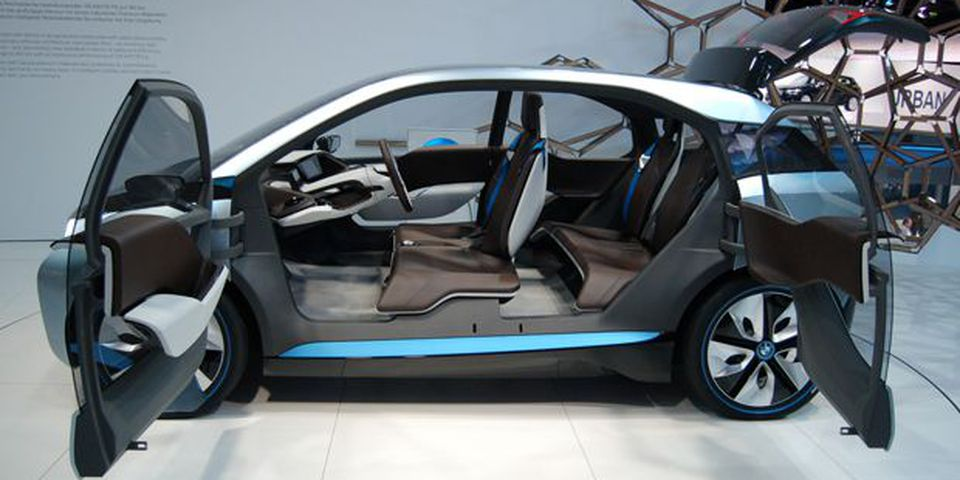 BMW i3 electric urban runabout at the 2011 Frankfurt International Motor show.