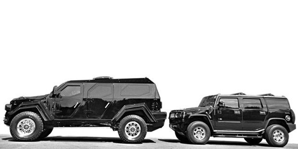 Conquest Knight XV & Hummer H2, side-by-side comparison.