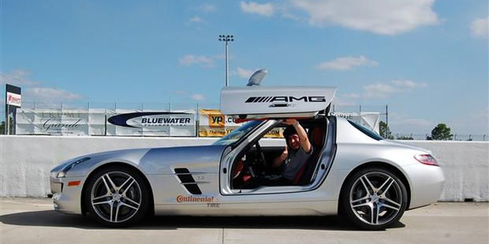 2012 Mercedes SLS AMG Coupe at the Mercedes-Benz Performance Tour.
