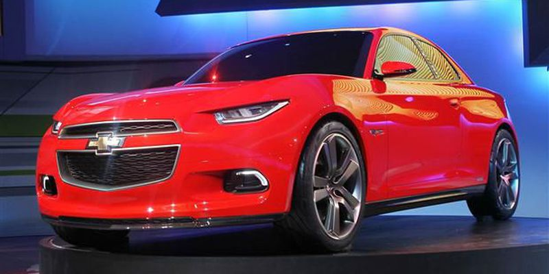Chevrolet introduces the Code 130R concept vehicle during the press preview at the North American International Auto Show.