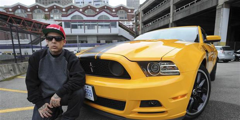 Pho Musician Madchild - Shane Bunting, who performs with hip hop band Swollen Members - loved the power and the rumble of this school bus yellow, 444-horsepower Mustang Boss 302.