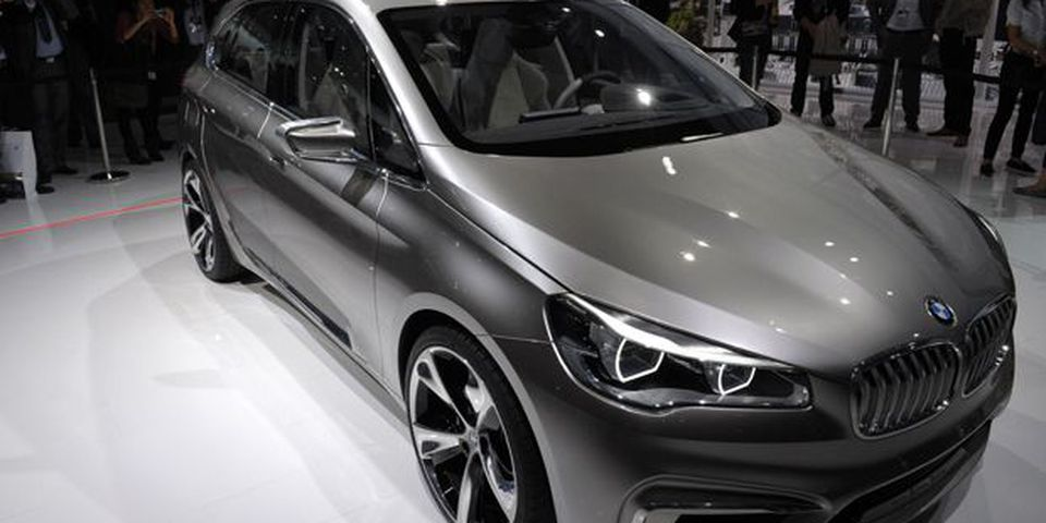 A BMW Concept Active Tourer is presented during the press days ahead of the opening of the Paris Motor Show.