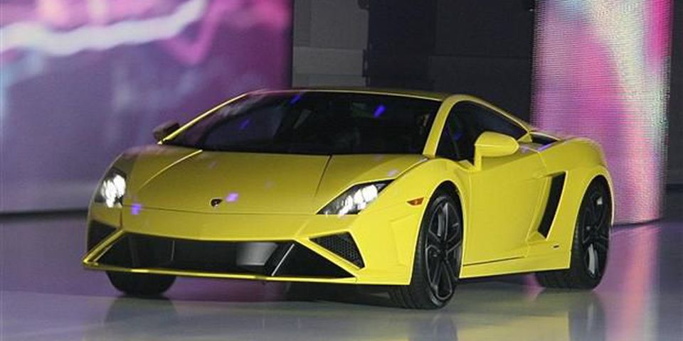 Lamborghini Gallardo LP 560-4 at the Paris Motor Show.