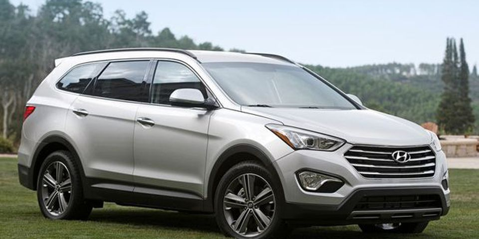 2013 Hyundai Santa Fe — with three row seating.