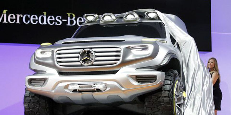 The Mercedes-Benz Ener-G-Force concept is introduced at the LA Auto Show in Los Angeles.