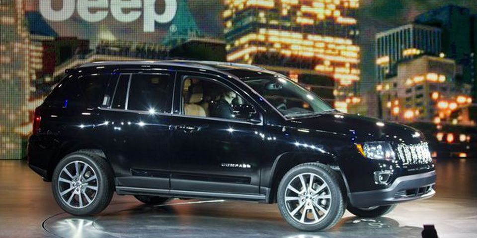The 2013 Jeep Compass is introduced at the North American International Auto Show.