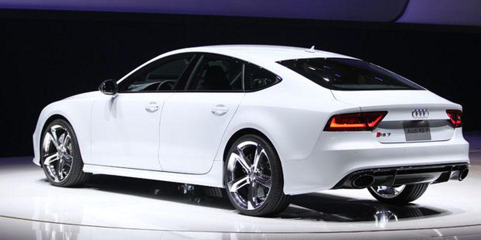 The Audi RS7 is introduced at the 2013 North American International Auto Show in Detroit.