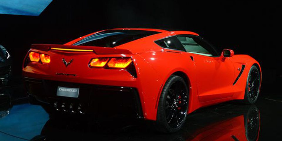 The redesigned 2014 Chevrolet Corvette Stingray is introduced the night before press previews start at the 2013 North American International Auto Show in Detroit.
