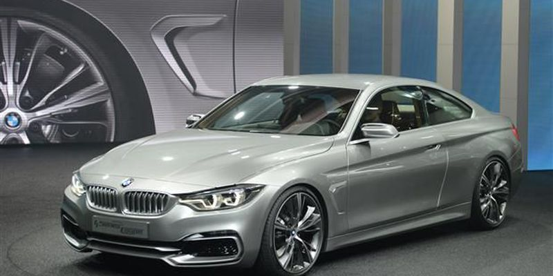 The BMW 4 Series Coupe concept car is introduced at the 2013 North American International Auto Show in Detroit.