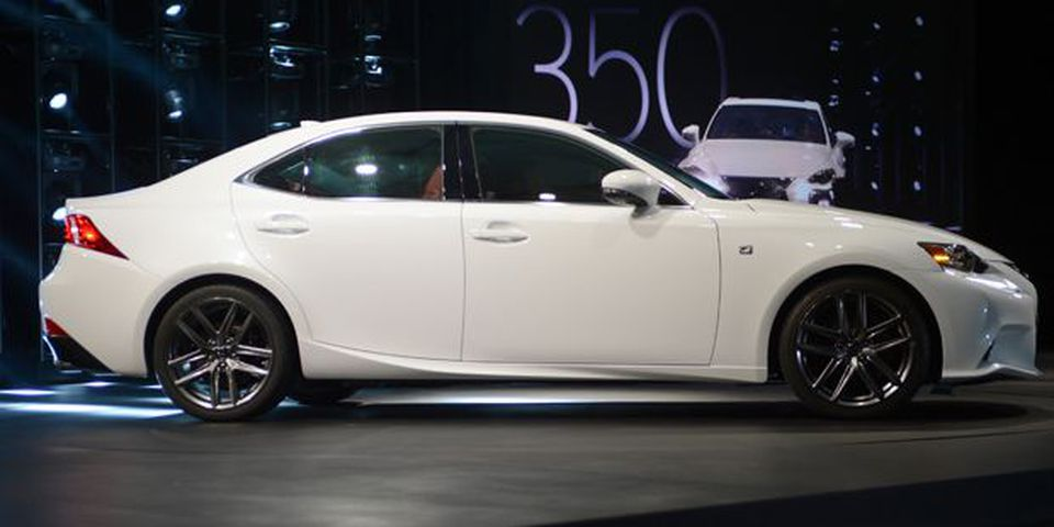 The Lexus IS 350 F Sport is introduced at the 2013 North American International Auto Show in Detroit.