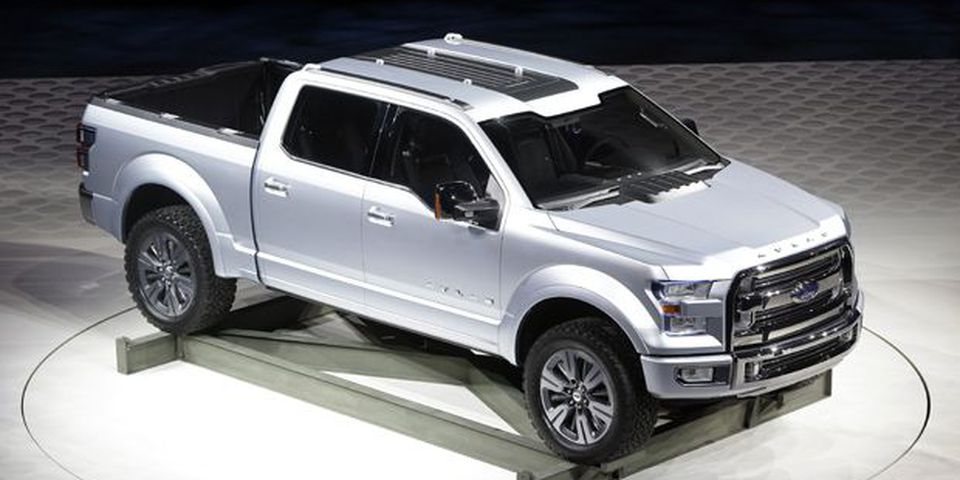The Ford Atlas concept pickup is unveiled at the North American International Auto Show in Detroit, Tuesday, Jan. 15, 2013.