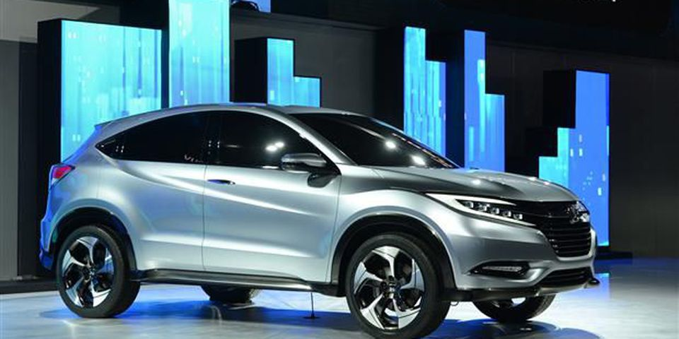 The Honda Urban SUV concept car is introduced at the 2013 North American International Auto Show.