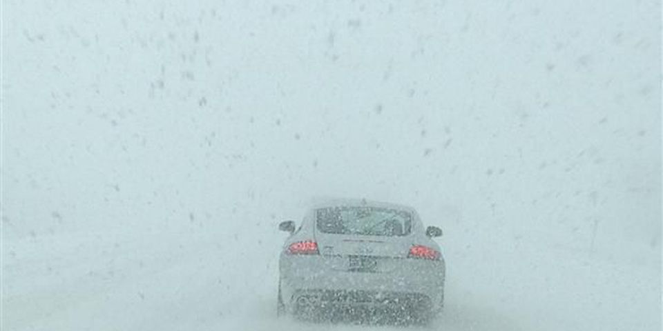 Snow squalls off Lake Ontario made for some of the worst driving conditions.