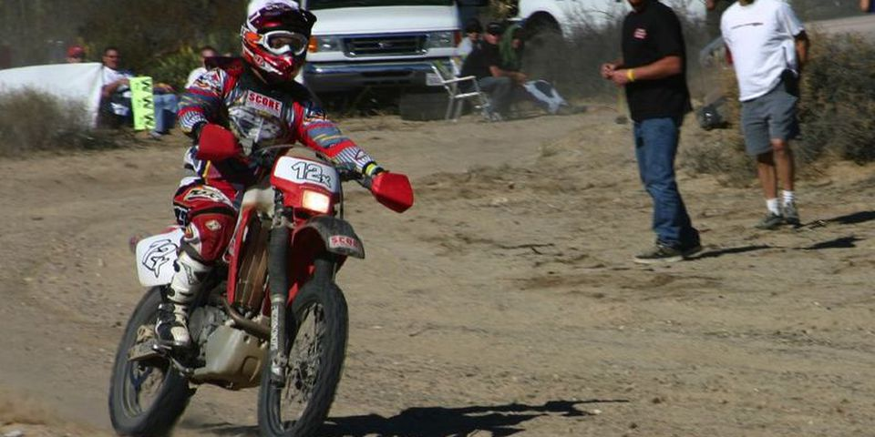 Rider at Mile 328 of the Baja 1000.