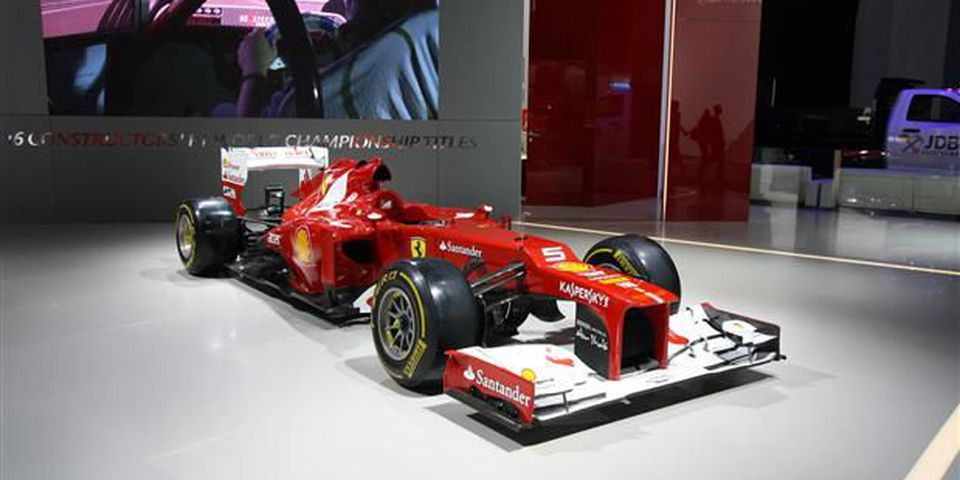 nd finally, we'd be remiss to not include this Ferrari F1 car, which despite the fact you can't go into a showroom and buy one, nor could you find a place to unleash it save a big time race track, still drew a crowd.