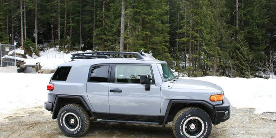 The 2013 Toyota FJ Cruiser Trail Teams Edition inspires adventurous thoughts.